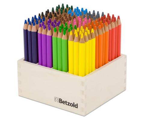 Dreikant-Stifte 144 Stueck im Holzaufsteller hochkant-1