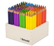 Dreikant-Stifte, 144 Stück im Holzaufsteller, hochkant