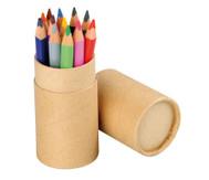 Dreikant-Stifte, 12 Stück in rundem Kartonetui