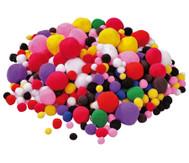 Bunt gemischte Pompon-Bälle, 525 Stück