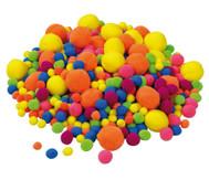 Neon Pompon-Bälle, 500 Stück