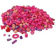 Holzfädelperlen, pink/lila, 250 g