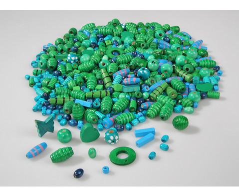 Holzfaedelperlen blau-gruen 250 g-2