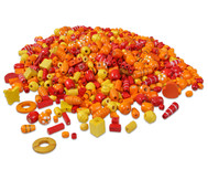 Holzfädelperlen, rot/orange, 250 g