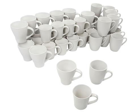 48 Porzellantassen in verschiedenen Formen-1