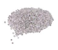 Metallicperlen, silber/weiß