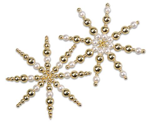 Perlensterne Set weiss-gold-3