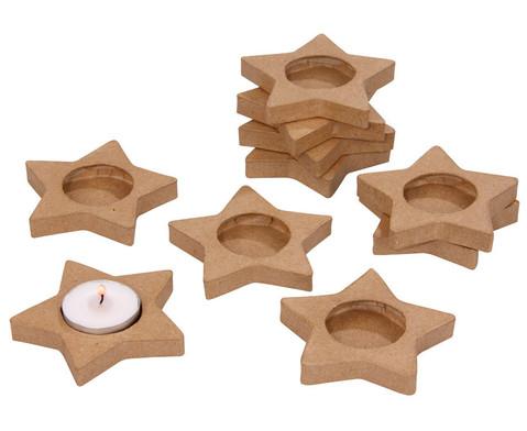10 Teelichthalter Stern