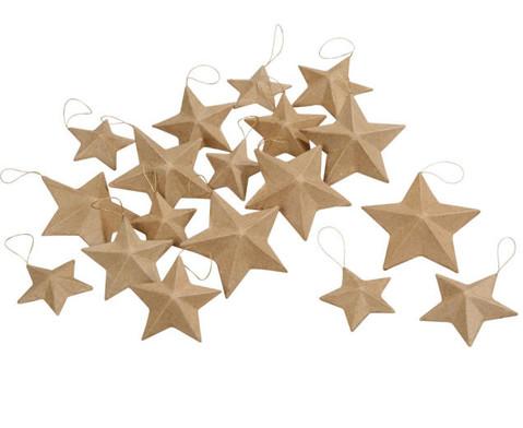 Pappmach-Sterne in 3 Groessen 18 Stueck-2