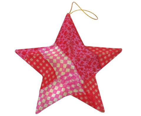 Pappmach-Sterne in 3 Groessen 18 Stueck-4
