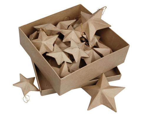 Pappmach-Sterne in 3 Groessen 18 Stueck-5