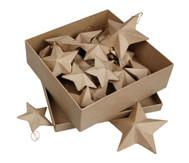 Pappmaché-Sterne in 3 Größen, 18 Stück