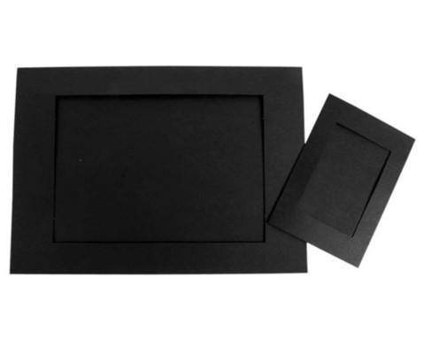 Passepartouts 120 Stueck mit Rueckseite schwarz-2