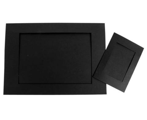 Passepartouts 120 Stueck mit Rueckseite schwarz-1
