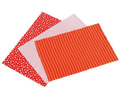 Stoff-Zuschnitte 20 x 30 cm 3 versch Stoffe rot oder blau-3