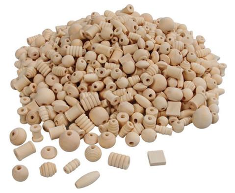 Holzperlen 1 kg naturbelassen-2