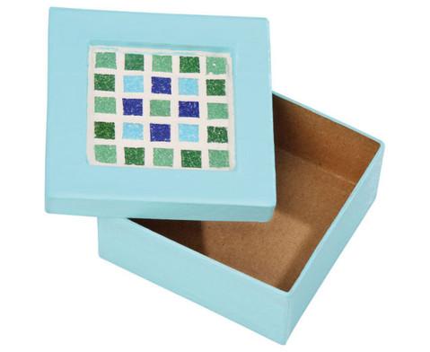 4 pappschachteln mit mosaikfeld blanko. Black Bedroom Furniture Sets. Home Design Ideas