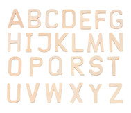 Holz-Buchstaben A-Z, 26 Stück