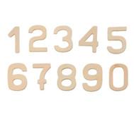 10 Blanko Holz-Zahlen