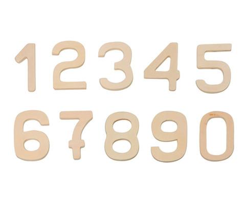 edumero Holzzahlen von 0-9, 10 Stück