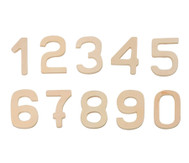 Holzzahlen von 0-9, 10 Stück