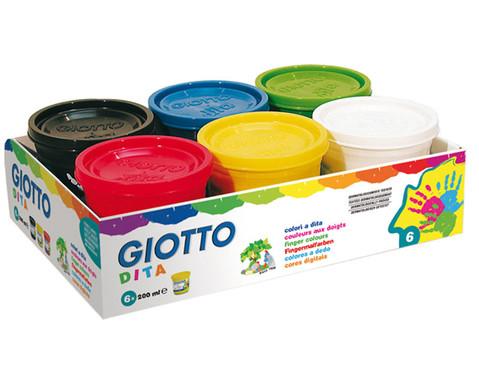 Giotto Fingermalfarben 6 Stueck im Set