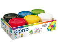 Giotto Fingermalfarben, 6 Stück im Set