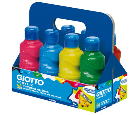 Giotto Acrylfarben Set mit 8 Farben je 250 ml