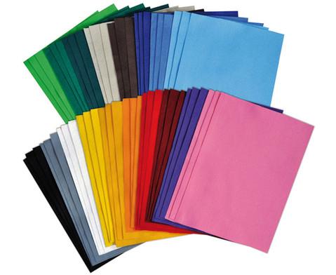 Filzboegen 54 Stueck in 18 Farben 20 x 30 cm