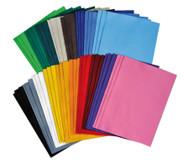 Filzbögen, 54 Stück in 18 Farben, 20 x 30 cm
