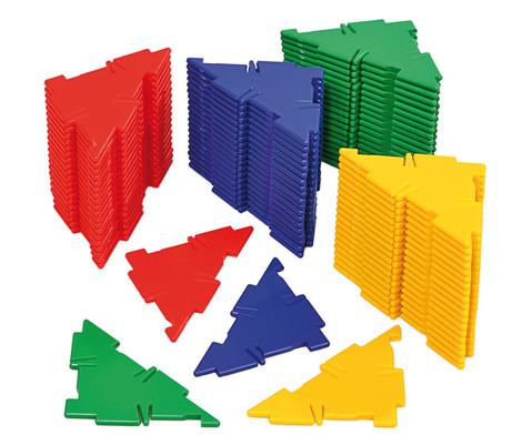 Polydron Satz mit 80 rechtwinkligen Dreiecken