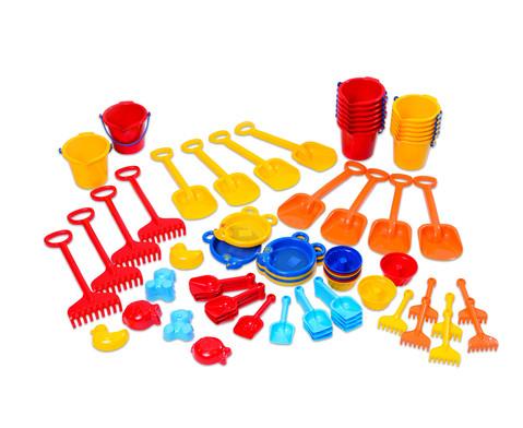 Jumbo Pack Krippen Sandspielzeug 72 teilig