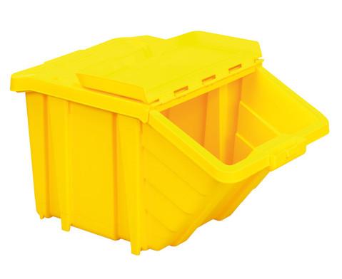 Grosse Stapelbox mit Klappdeckel in 4 Farben-4
