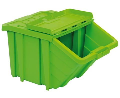 Grosse Stapelbox mit Klappdeckel in 4 Farben-7