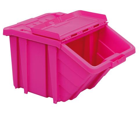 Grosse Stapelbox mit Klappdeckel in 4 Farben-3