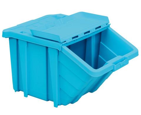 Grosse Stapelbox mit Klappdeckel in 4 Farben-6