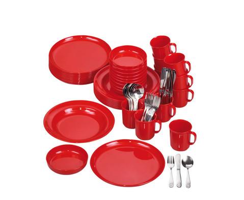 Geschirr-Set rot 70 tlg-1