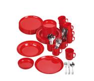 Geschirr-Set, rot, 70 tlg