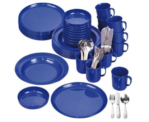 Geschirr-Set blau 70 tlg-1