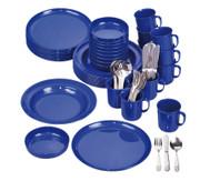 Geschirr-Set, blau, 70 tlg