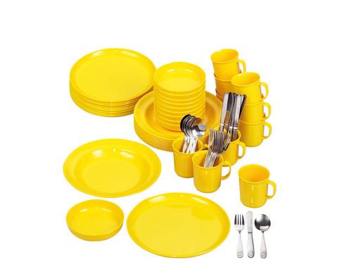Geschirr-Set gelb 70 tlg-1