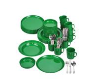 Geschirr-Set, grün, , 70 tlg