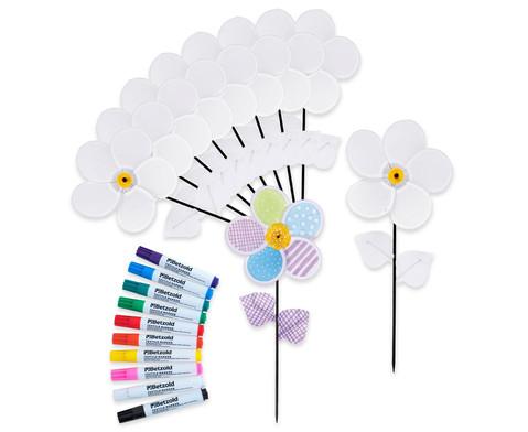 Bastelset Windrad-Blumen