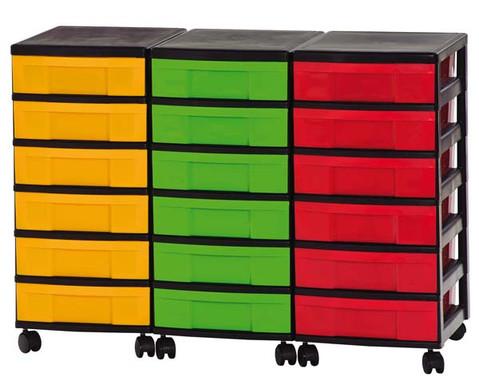 Container-System mit 18 kleinen Schueben-2