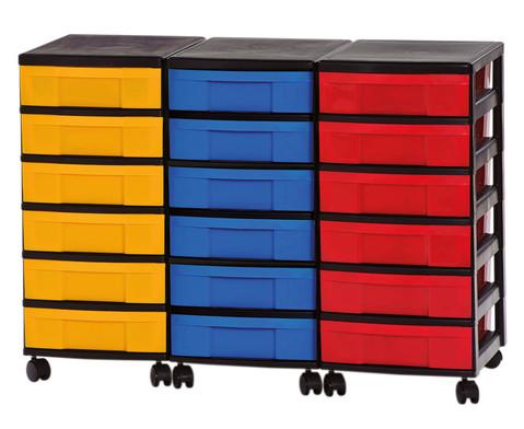 Container-System mit 18 kleinen Schueben-1