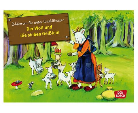 Der Wolf und die sieben Geisslein  Bildkarten-Sets zum Erzaehltheater-1