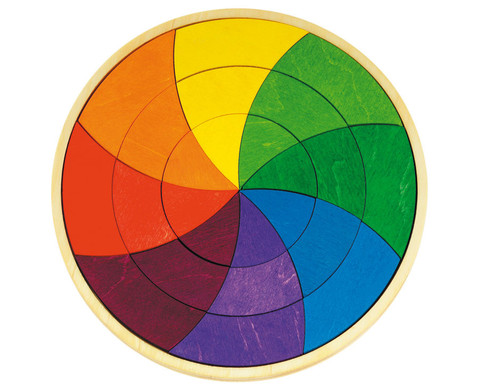 Geometrisches Puzzle Farbkreis Goethe