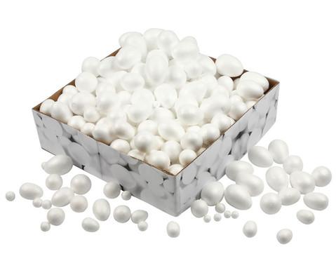 Styropor-Kugeln und -Eier Grosspackung 550 Stueck-1