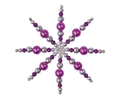 Drahtsterne-Set Lila-Pink-Silber-2
