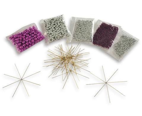 Perlensterne Set Lila-Pink-Silber-1